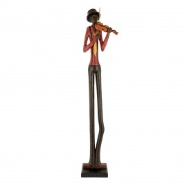Standing Jazz Violinist Ornament Created Out of Resin
