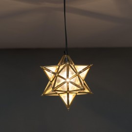 Star Pendant Hanging Light in Situ on the Ceiling