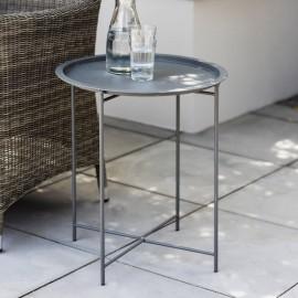 Steel Grey Side Table in Situ