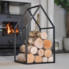"""""""Town House"""" Iron Log Rack in Situ in the Living Room"""