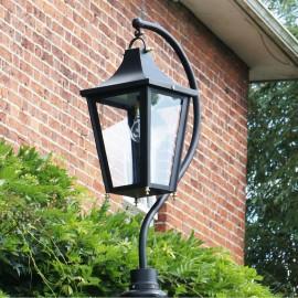 Large Swan Neck Lantern Black