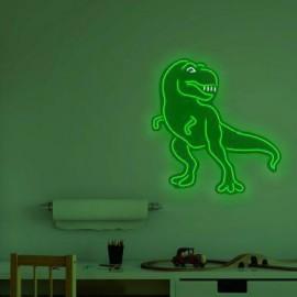 """""""T-Rex"""" Neon Wall Light in Green"""