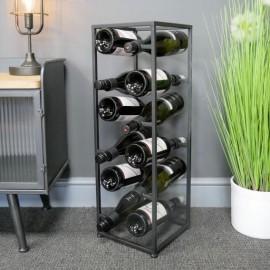 Tall Modern & Industrial Cube Wine Rack in Situ