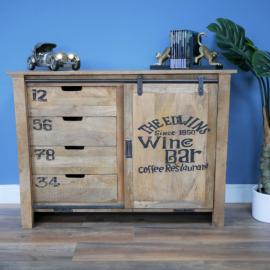 """The Edwins Wine Bar"" Sliding Door Cabinet in Situ in the Home"