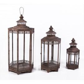 """Lotus Garden"" Rustic Style Candle Lanterns"