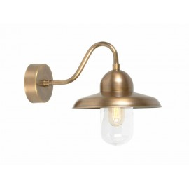 """""""Orchid"""" Traditional Antique Brass Swan Neck Wall Lantern"""