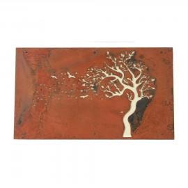 """Tree In Wind"" Wall Art in a Rustic Finish"