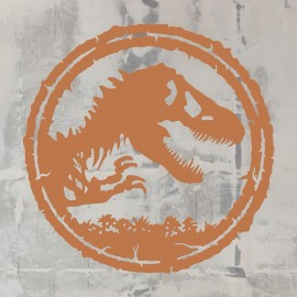 T-Rex Wall Art Finished in Autumn Leave Orange