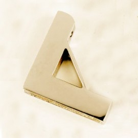 Small Brass Unhinged Triangle Carpet Bracket