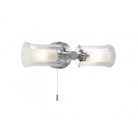 Two Bulb Contemporary Bathroom Wall Light