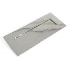 Small Cast Brass Traditional Letter Plate- Polished Chrome