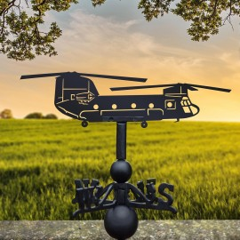 Chinook Helicopter Weathervane in Use in the Sun Rise