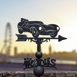 Jaguar D-Type Weathervane in Use in the City