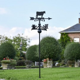 Cow Free Standing Weathervane in Use Outdoors