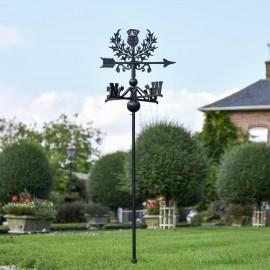 Scottish Thistle Free Standing Weathervane in the Garden