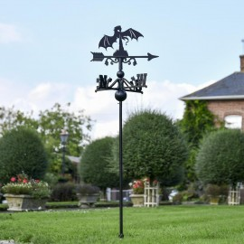 Fire Breathing Dragon Free Standing Weathervane in the Garden