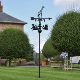 Giraffe Free Standing Weathervane in Use Outdoors