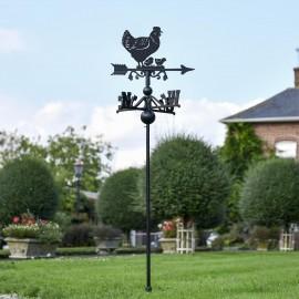 Hen & Chicks Free Standing Weathervane in the Garden