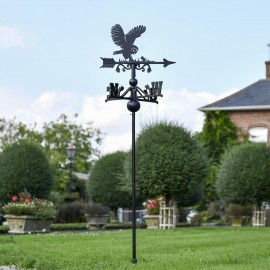 Barn Owl Free Standing Weathervane in the Garden