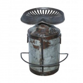 Industrial Tractor Seat with Milk Churn Stool