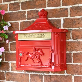 """""""Scorched Cranberry"""" Red Huntingdon Wall Mounted Post Box"""