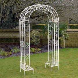 """""""Amelie"""" Ornate Cream Garden Rose Arch"""