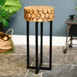 Side Table in Situ with a Plant on Top