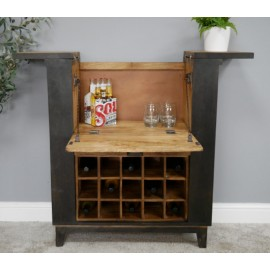 Chunky Industrial Wine Cabinet
