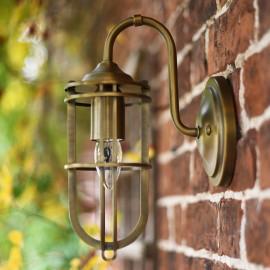 Beautiful Antique Brass Caged wall lantern