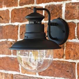 """Westcliff"" Traditional Black Wall Lantern"