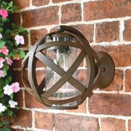 Vintage Iron Sphere Wall Light