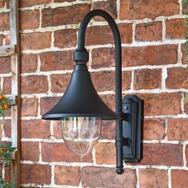 Deluxe Barn Hanging Wall Light on Brick Wall