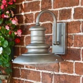 """Redding"" Traditional Silver Railway Style Medium Wall Light"