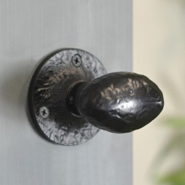 """""""Bulmershe Place"""" Black Oval Shaped Door Knobs"""