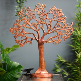 Large Tree of Life Oxidized Copper Table Light