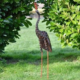 Colourful Crane Sculpture
