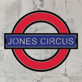 'The Underground' Personalised Wall Art in Red & Blue