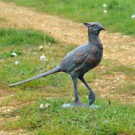 Verdigris Pheasant Garden Sculpture