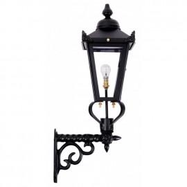 Black Victorian Wall Light on a Ornate Royale Bracket