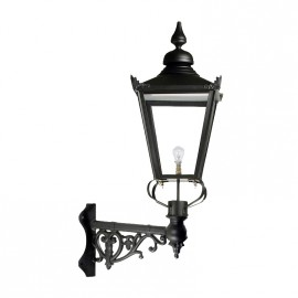 Medium Black Victorian Wall Light on Corner Bracket