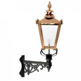 Copper Victorian Lantern On Corner Bracket