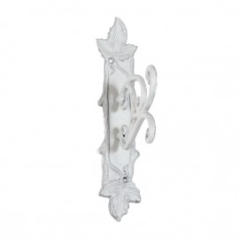 Abstract Leaf Design Hook Finished In a Light Grey