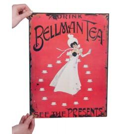 "Vintage ""Bellman Tea"" Sign"