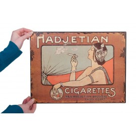 """""""Hadjetian Brothers"""" Vintage Cigarettes Sign"""