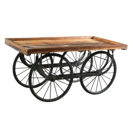 Wooden & Iron Display Cart Table