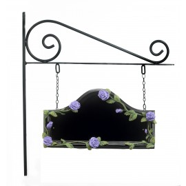 Violet Rose Hand Painted Double Sided House Name Sign