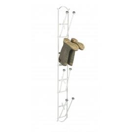 Cream book rack with folding poles