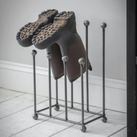 Modern Steel Welly Rack - Four Pairs
