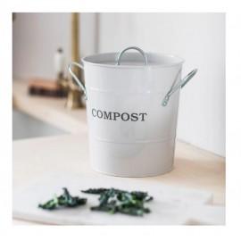 White 3.5L Compost Bucket