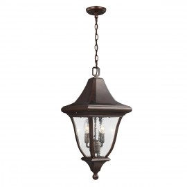 """""""Woodside"""" Chain Hanging Light in an Antique Bronze Finish"""